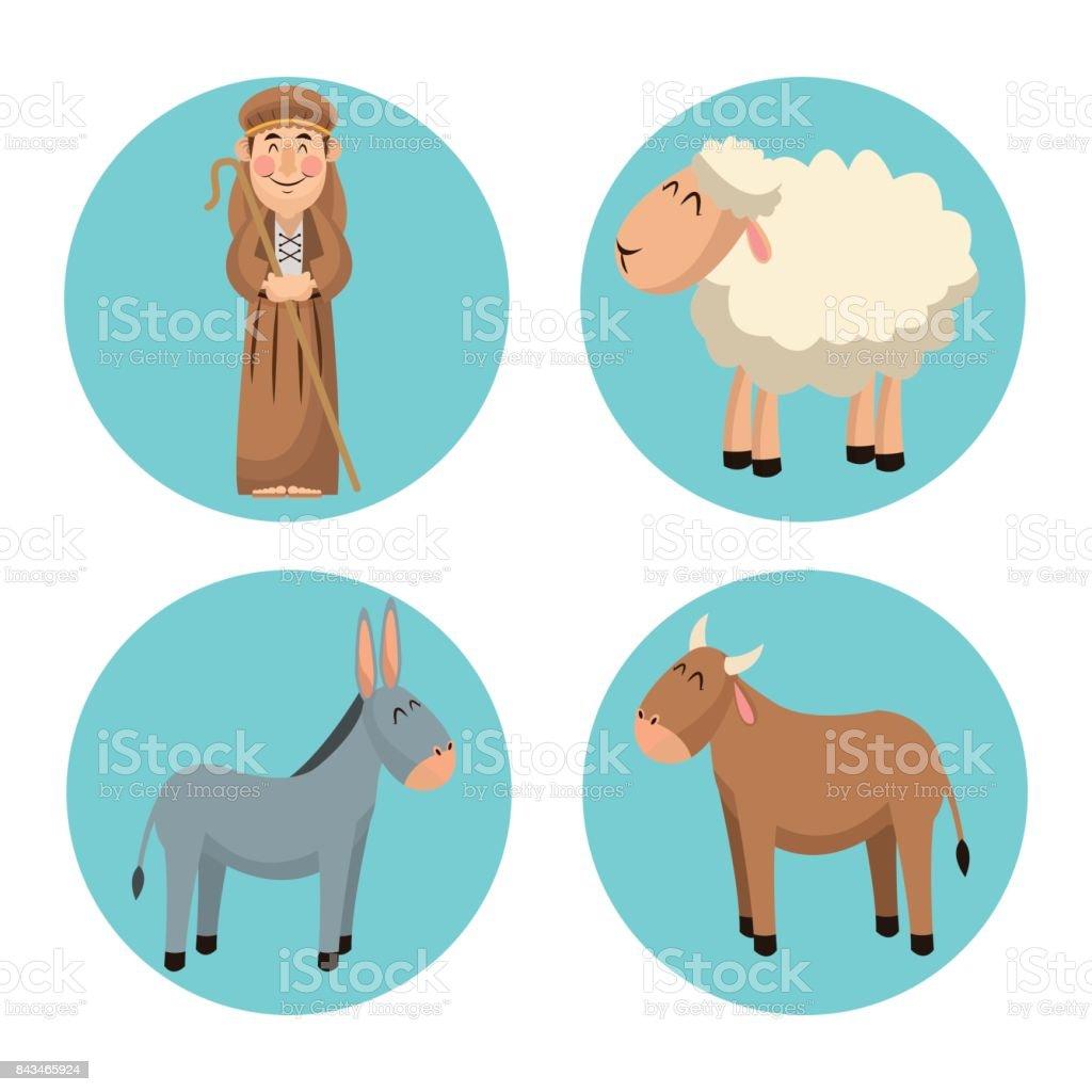 Shepherd cartoon design - illustrazione arte vettoriale