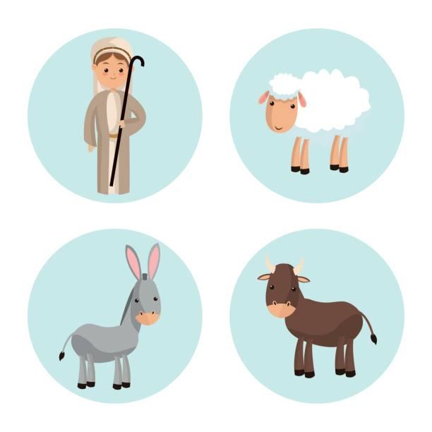 Free Christmas Shepherds Vector Art