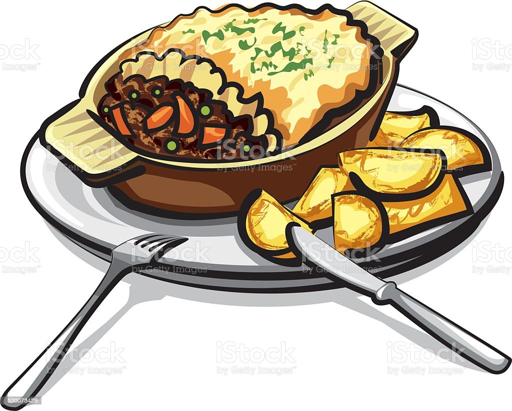 sheppards pie vector art illustration