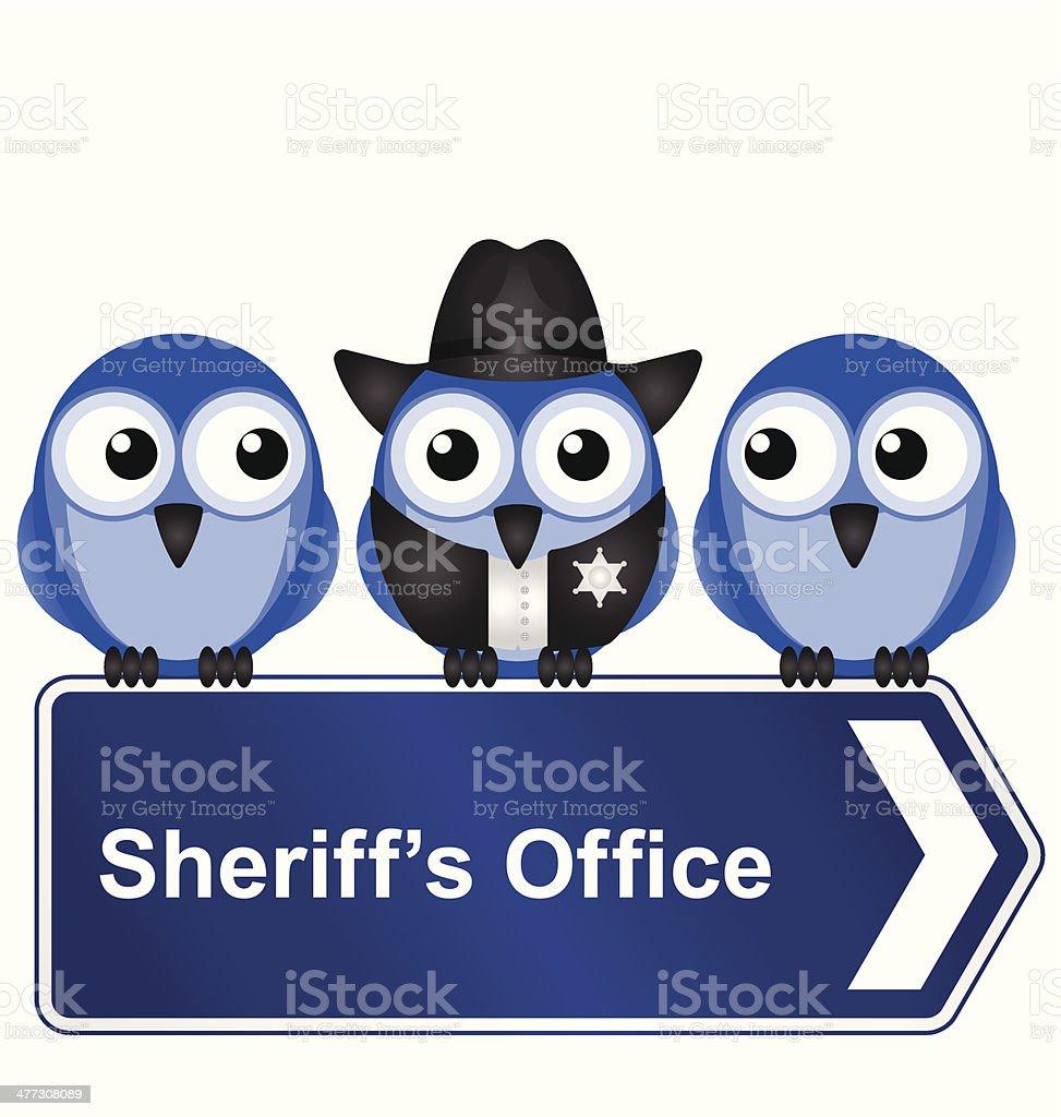 Sheriff Office vector art illustration