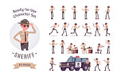 Sheriff ready-to-use character set
