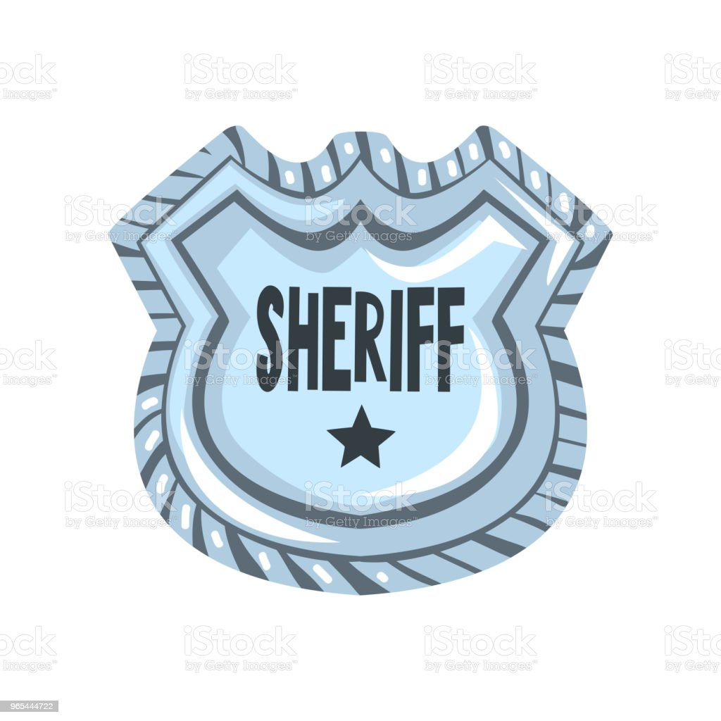 Sheriff shield badge, American justice emblem vector Illustration on a white background sheriff shield badge american justice emblem vector illustration on a white background - stockowe grafiki wektorowe i więcej obrazów archiwalny royalty-free
