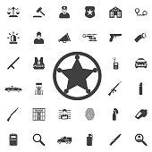 Sheriff star icon .