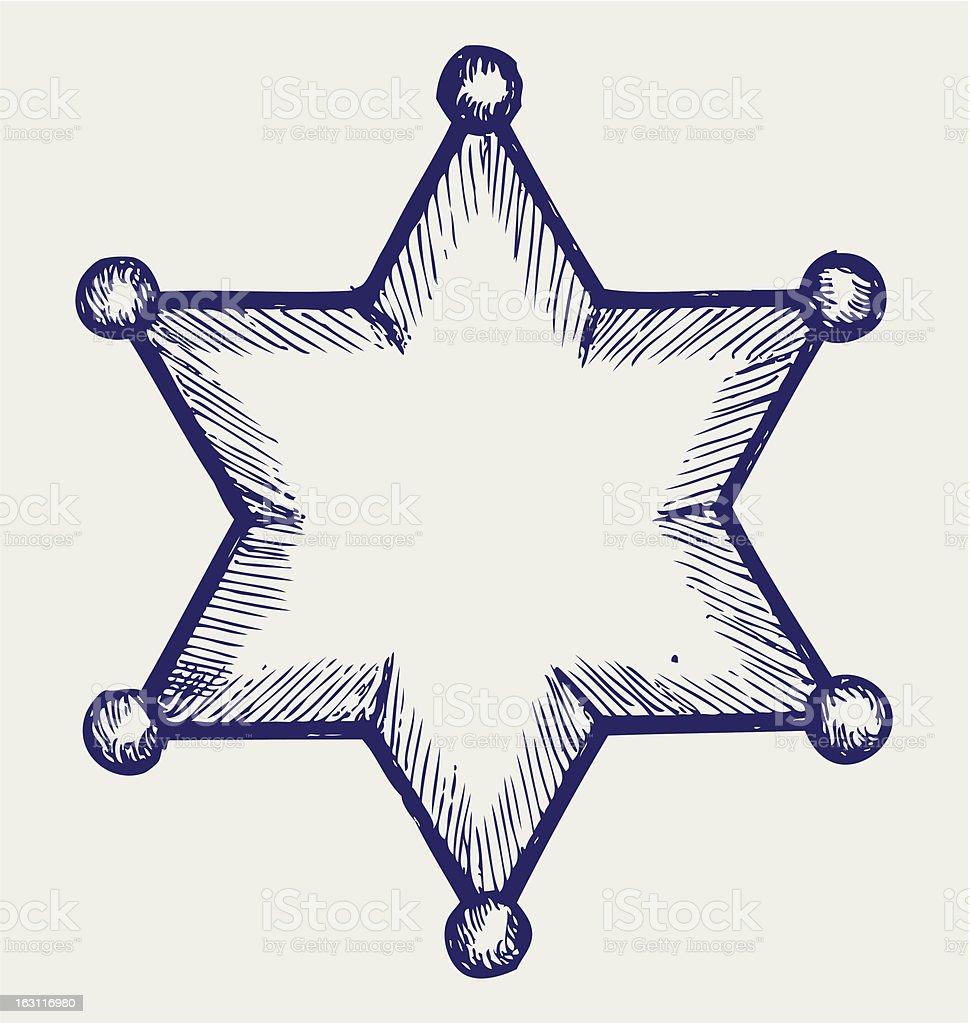 Sheriff star royalty-free stock vector art