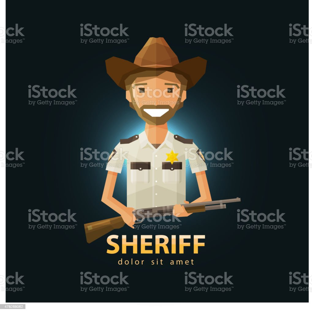 sheriff vector logo design template. police, LAPD or law, constabulary vector art illustration