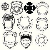 shield vector collection