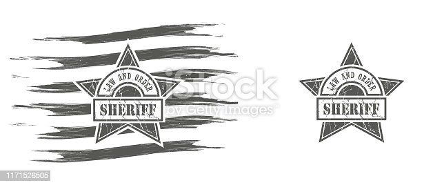 Black and white illustration with grunge texture