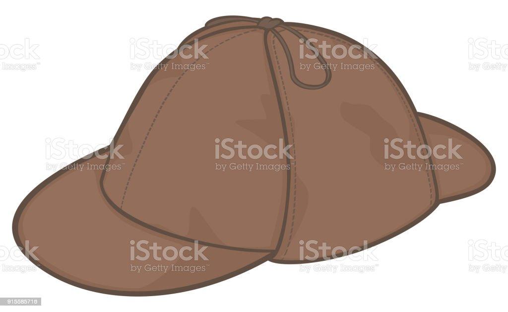f39ddfa75 Sherlock Holmes Hat Vector Illustration Stock Illustration ...