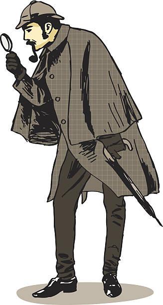 Sherlock Holmes Investigator Sherlock Holmes Investigator sherlock holmes stock illustrations
