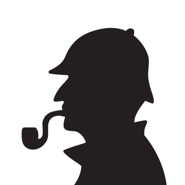 Sherlock holmes silhouette Sherlock holmes silhouette vector illustration sherlock holmes stock illustrations