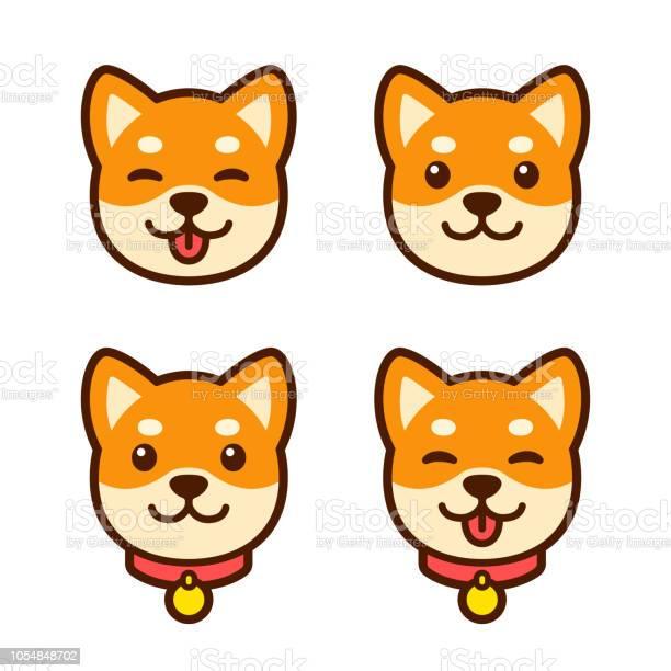 Shiba inu puppy face set vector id1054848702?b=1&k=6&m=1054848702&s=612x612&h=shbcxqugk5ipja95n2bvhcfwe0vsdesuoihsdeh6zwm=