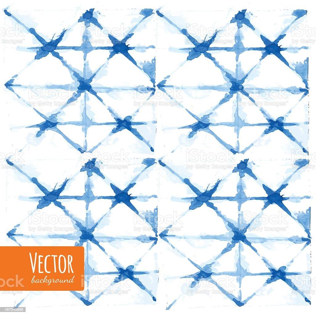 shibori vector art illustration