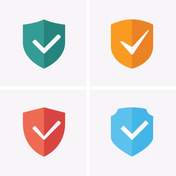 shield and tick icons. guaranteed icons - blocks stock illustrations, clip art, cartoons, & icons
