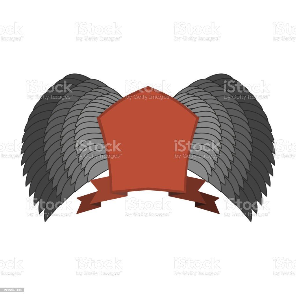 遮罩和翅膀。紅十字標誌。古色古香的外套範本 免版稅 遮罩和翅膀紅十字標誌古色古香的外套範本 向量插圖及更多 中古時代 圖片