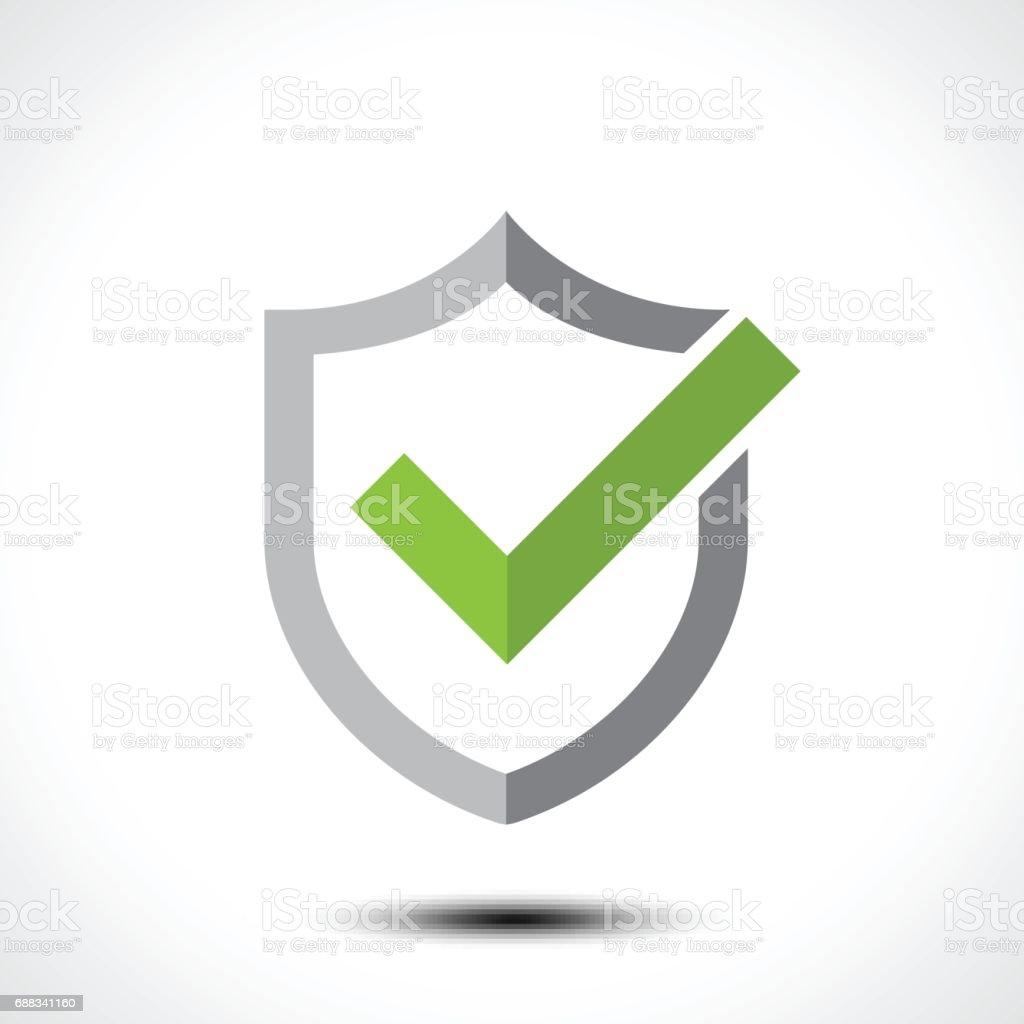 Shield Check Mark Icon Icon Design Template Element Stock Vector Art ...