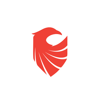Shield Eagle Logo - bonfire burn energy firefighter wildfire inferno flammable blaze ignite phoenix security protection safety