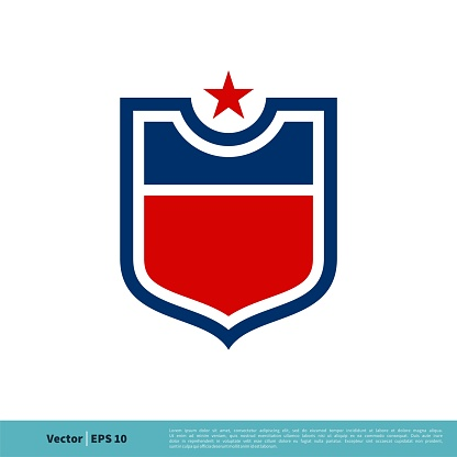 Shield Emblem Sport Team Icon Vector Logo Template Illustration Design. Vector EPS 10.