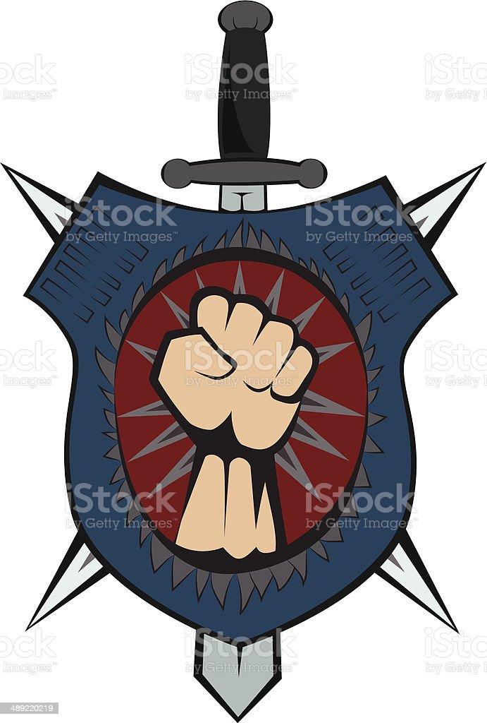 Shield emblem vector art illustration