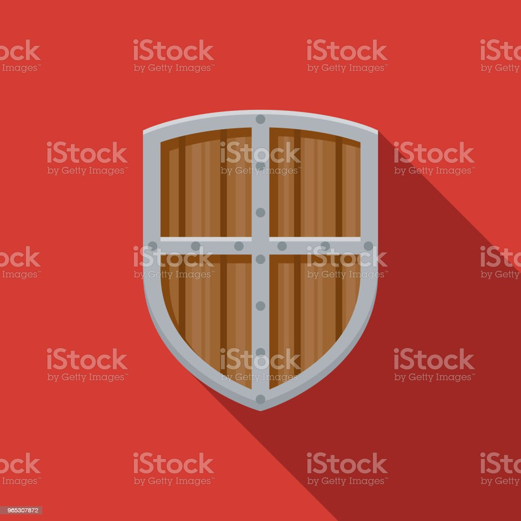 Shield Flat Design Fantasy Icon royalty-free shield flat design fantasy icon stock vector art & more images of adventure