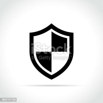Illustration of shield icon on white background