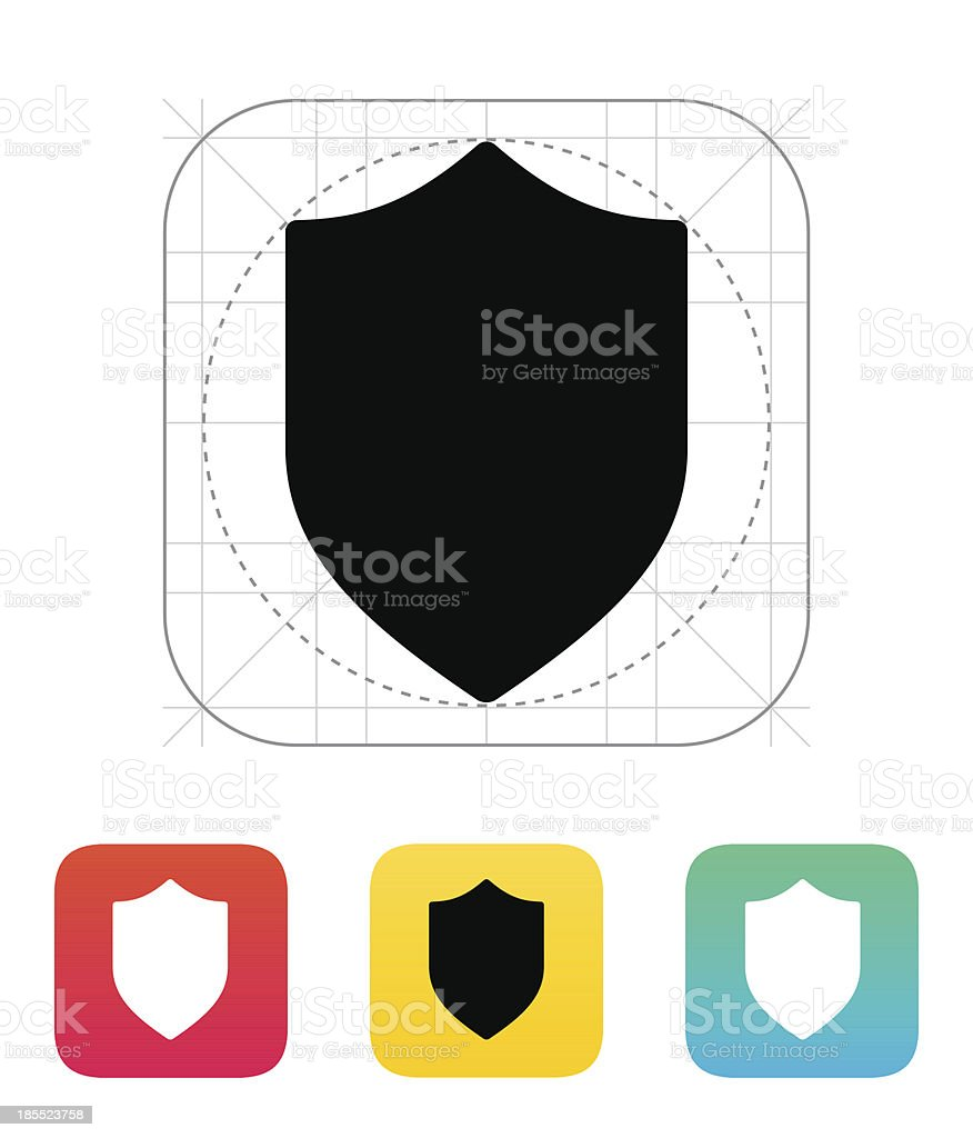 Shield icon. royalty-free stock vector art