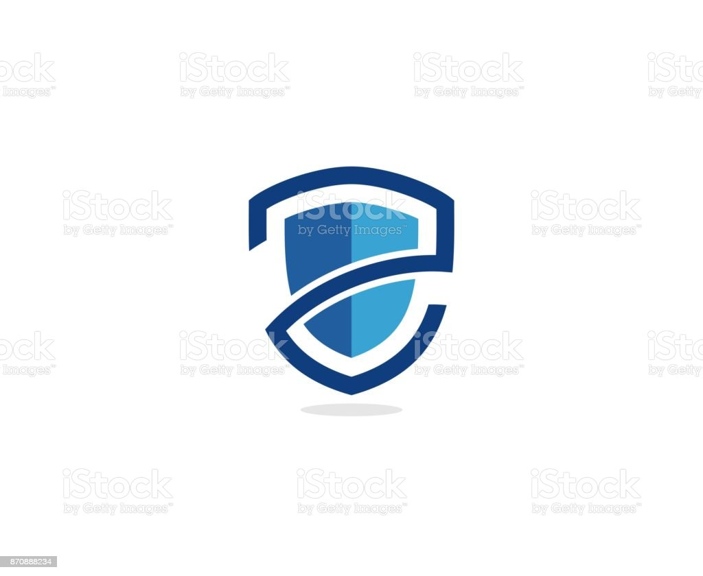 Shield icon vector art illustration