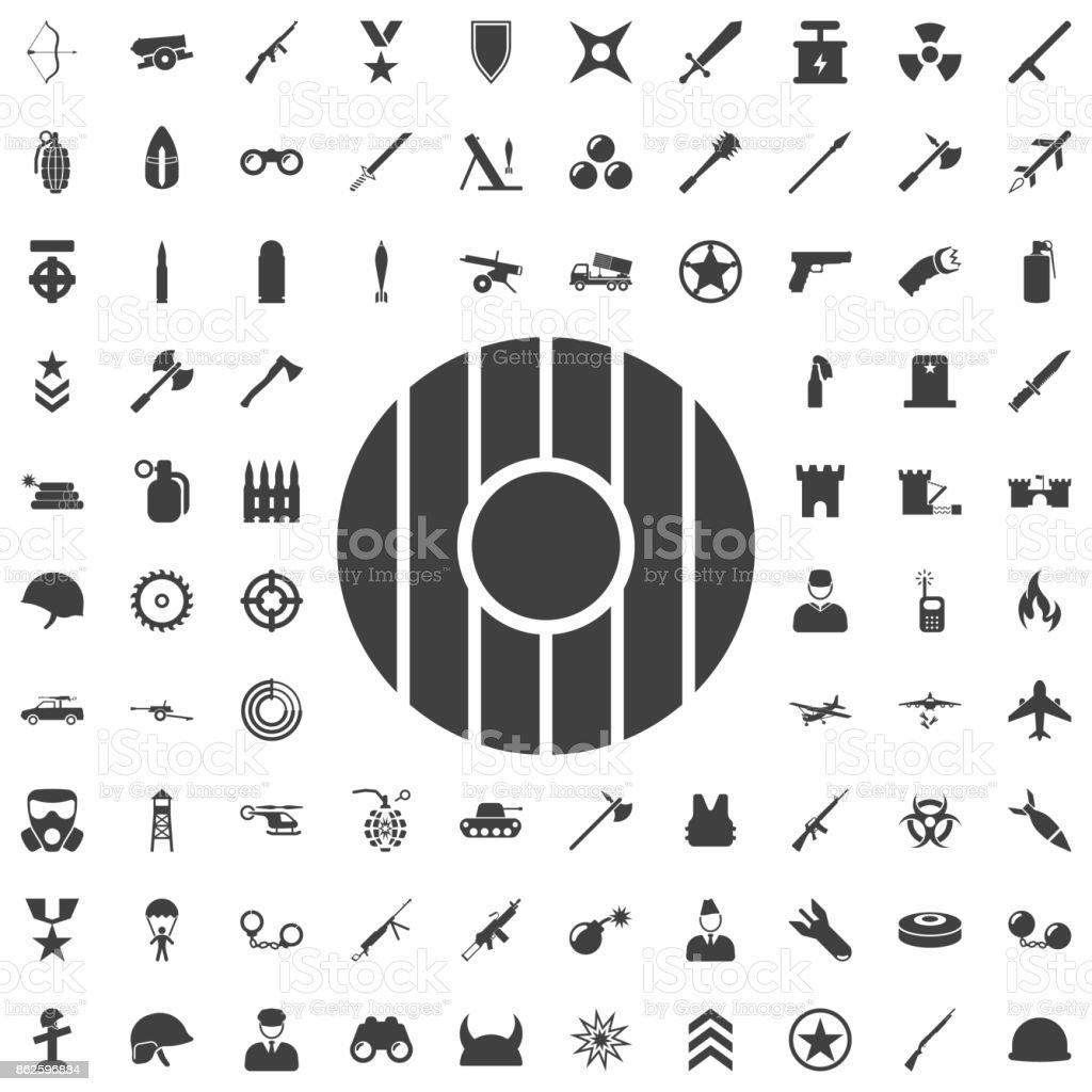 Escudo em design plano. Ícone de escudo isolado. Ilustração vetorial - ilustração de arte em vetor