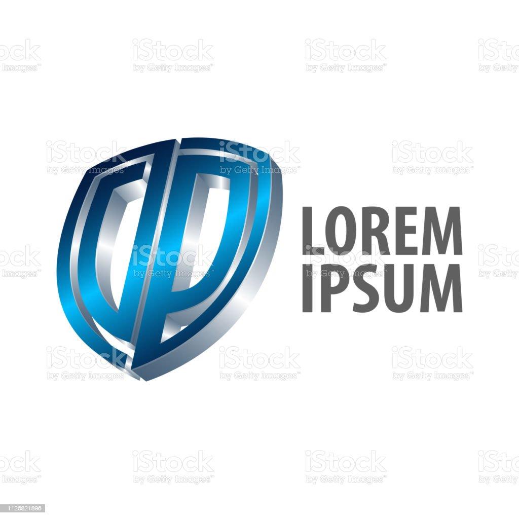 Vetores de Letra Inicial Escudo Dp Logotipo Conceito De