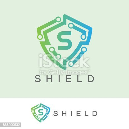 icon template with Shield element
