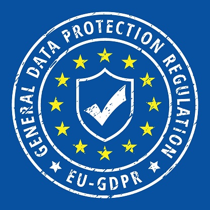Eu Gdpr Shield Label Illustration Stock Vector Art & More Images of Accessibility