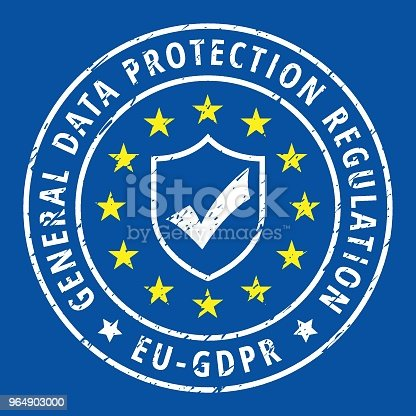 Eu Gdpr Shield Label Illustration Stock Vector Art & More Images of Accessibility 964903000