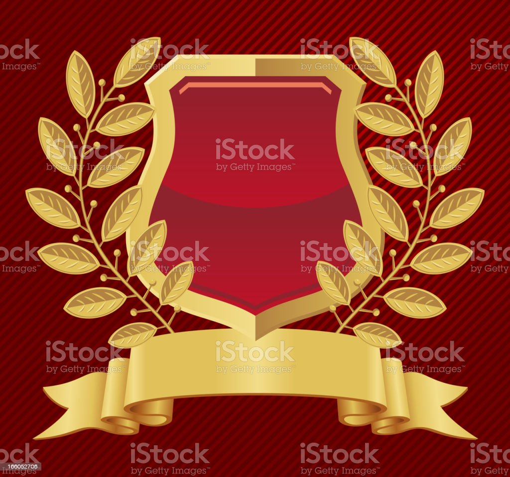 Shield laurel wreath royalty-free stock vector art