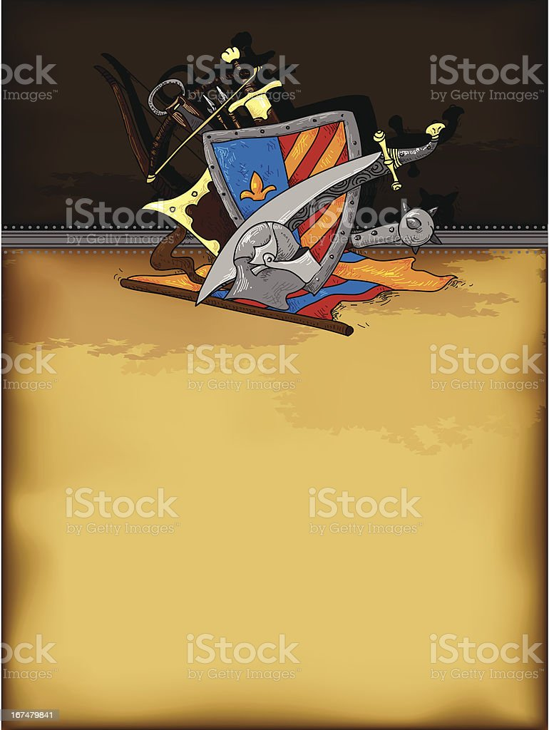 shield medieval hand drawing royalty-free stock vector art