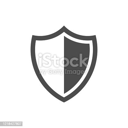 Shield Protection Icon isolated on white background. Vector illustration. Eps 10.