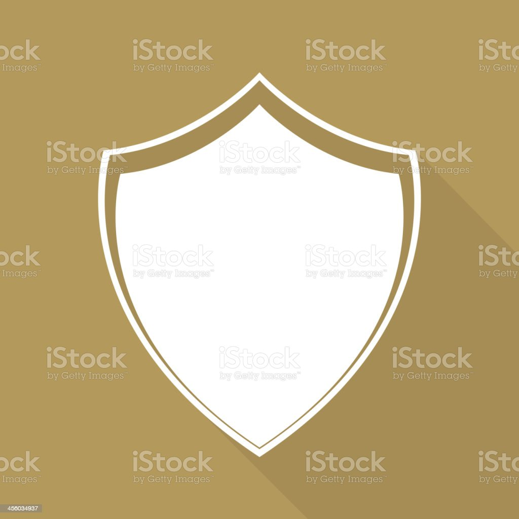 Shield protection icon vector art illustration