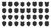 Shield safety defense protect vector glyph icons