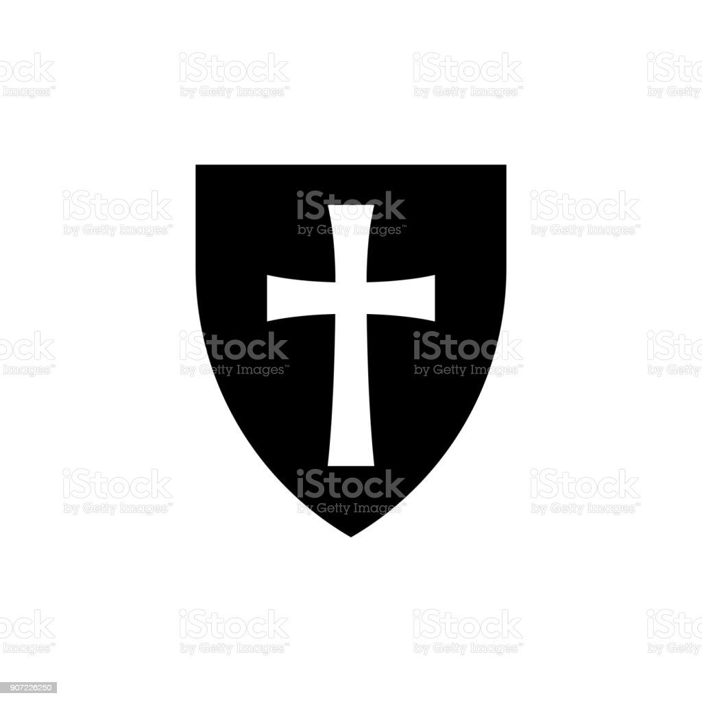 Shield Symbol Of Protection Safeguard Security Defence Honor Stock