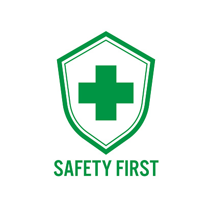 Shield Vector Icon  for safety first concept