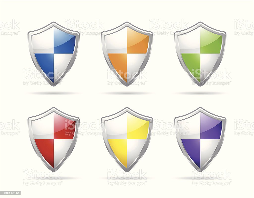 Shield royalty-free shield stock vector art & more images of blue