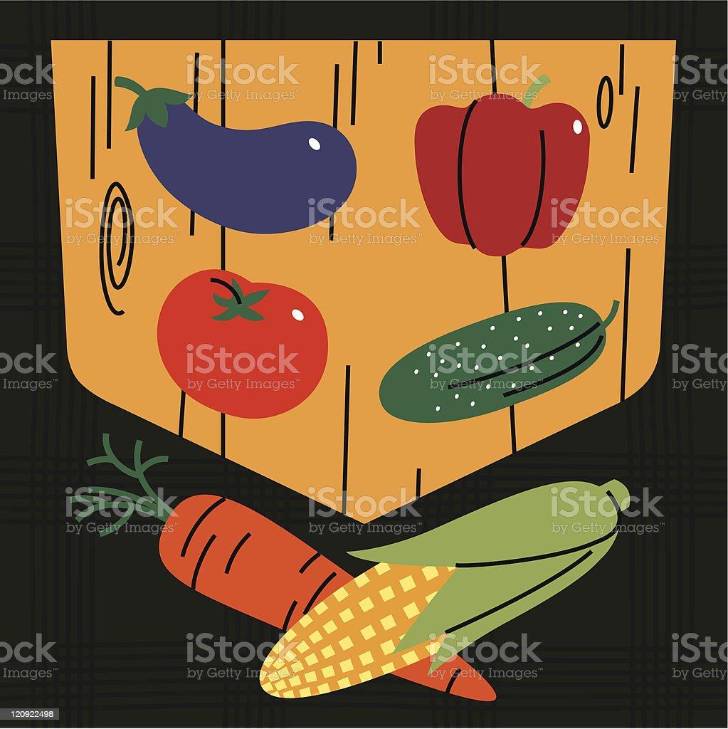 Shield Vegetables. royalty-free stock vector art
