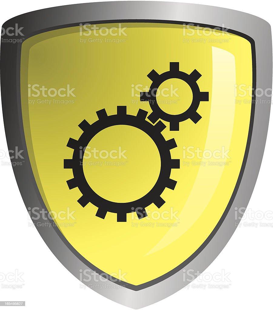 Shield warnings3 royalty-free stock vector art