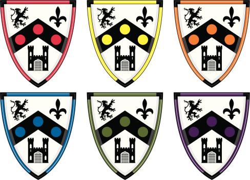 Shield with Castle, Lion & Fleur De Lys