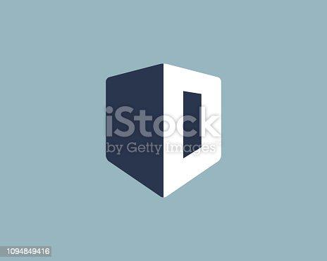 Shield with letter O logo icon design