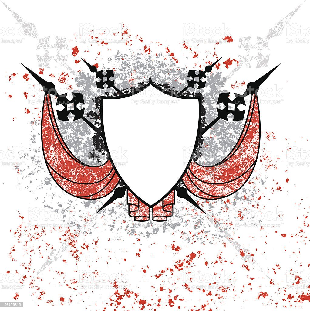 Shield with Splatter royalty-free shield with splatter stock vector art & more images of black color