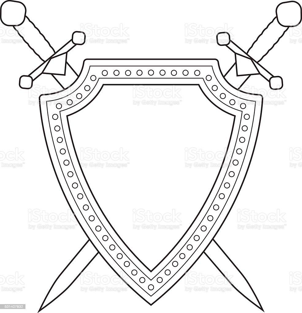 Стойки, картинки щит и меч русского богатыря в векторе