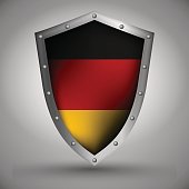 Shield with the German flag