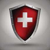 Shield with the Swiss flag