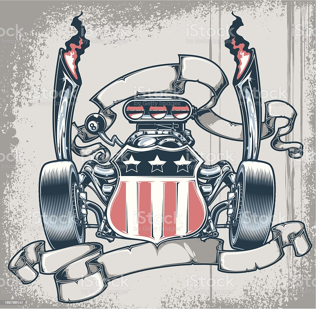 V8 Engine Clipart Shield With V8 Engine ...