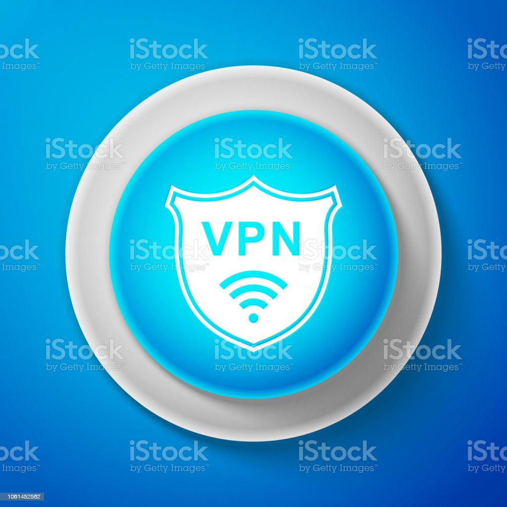 Shield With Vpn And Wifi Wireless Internet Network Symbol Icon