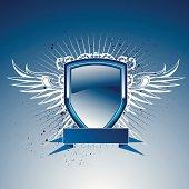 vector banner with wings.Download includesEPS8 and CS2 files